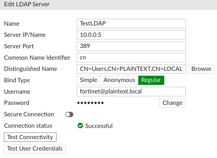 My 1st CVE - Capture LDAP credentials from FortiGate  - PlainText