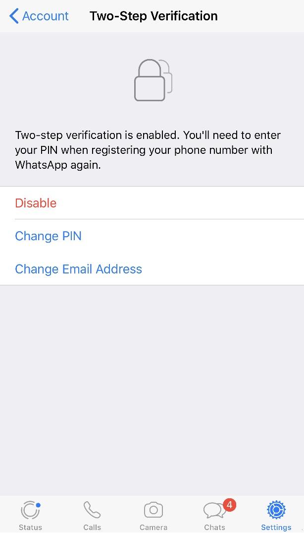 WhatsApp two-step verification reminder bypass  - PlainText